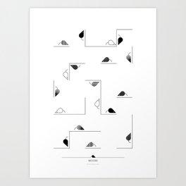 animal PICTOGRAMS vol. 7 - MICE Art Print