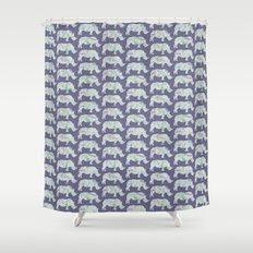 speckled rhinos Shower Curtain