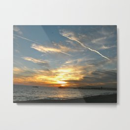 Sunset at Seal Beach Metal Print