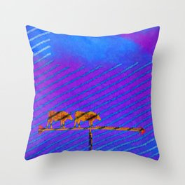Meat Works Throw Pillow