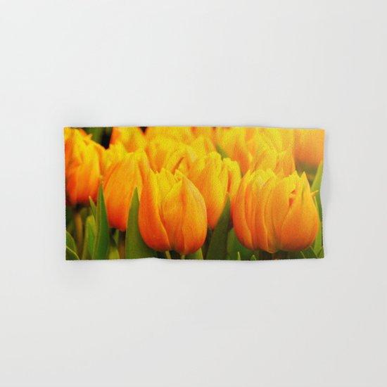 Yellow Tulips Hand & Bath Towel