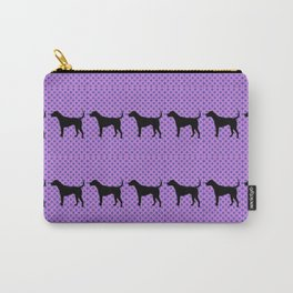 Black Lab in Purple Pattern Carry-All Pouch