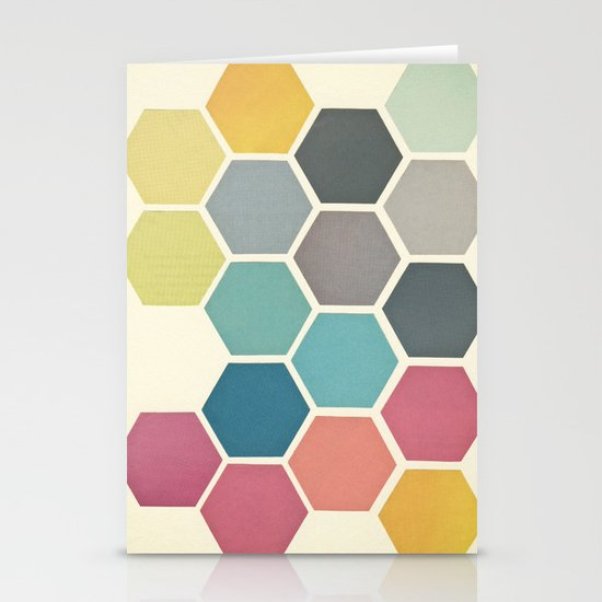 Honeycomb II Stationery Cards