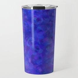 Royal Blue Floral Abstract Travel Mug