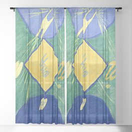 "Hilma af Klint ""Primordial Chaos No. 06, Group I"" Sheer Curtain"