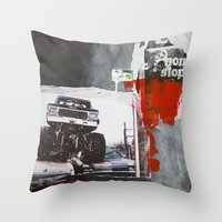 bigfoot Throw Pillows featuring Bigfoot by six inch stiletto