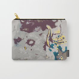 green yellow brown and grey abstract background Carry-All Pouch