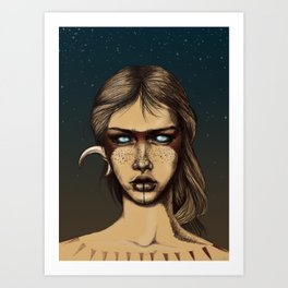 Nocturnal Warrior Art Print