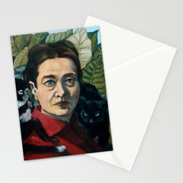 Simone DeBeauvoir Stationery Cards