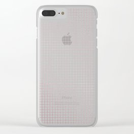 Simply Grid Lines in Rose Gold Sunset Clear iPhone Case