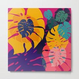 Aloha Floral Pop Art Pattern Metal Print
