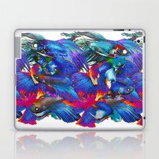 FIGHTING FISHES BETTA - Animals | Psychedelic | 70's | Abstract | Pop | Surrealism | Nature Laptop & iPad Skin