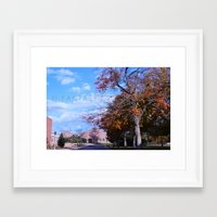 college Framed Art Prints featuring College by Vickyyyy