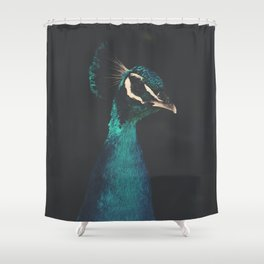 peacock and proud Shower Curtain