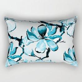 Watercolor Cherry Flowers XIV Rectangular Pillow
