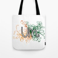 miami Tote Bags featuring Miami by Tanie