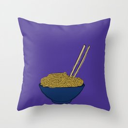 Noodle Bowl Throw Pillow