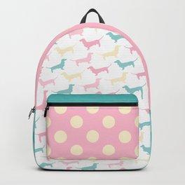 Pastel Dachshund Pattern Backpack