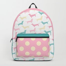 Pastel Dachshund Pattern Backpack