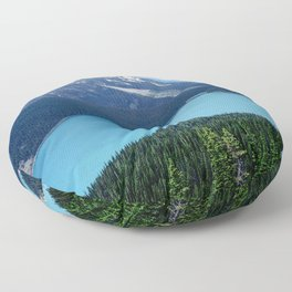 Canada's Spectacular Peyto Lake Amidst Snowy Mountains Floor Pillow