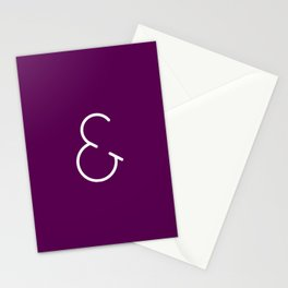 Minimalistic Ampersand Stationery Cards