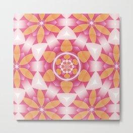 Flower Snowflake Fractal Metal Print