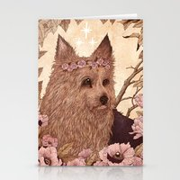 yorkie Stationery Cards featuring Yorkie by Angela Rizza