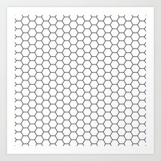 White Hex Art Print