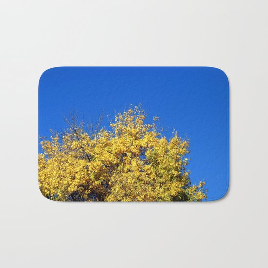 Yellow Autumn Tree Bath Mat