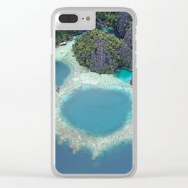 the blue hole in coron Philippines Clear iPhone Case