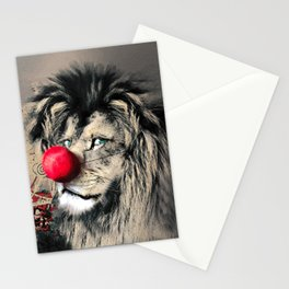 Circus Lion Clown Stationery Cards