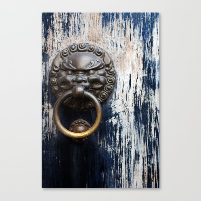 Chinese Lion Door Knocker Canvas Print
