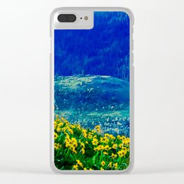 No. 3 Okanagan Sunflowers at Dawn Clear iPhone Case