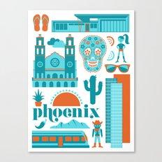 Phoenix in Turqoise Canvas Print