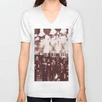 it crowd V-neck T-shirts featuring Crowd by YM_Art by Yv✿n / aka Yanieck Mariani
