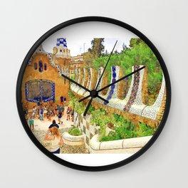 Park Guell, Barcelona, Spain Wall Clock