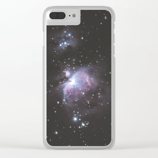 Orion And Running man Nebula's Clear iPhone Case
