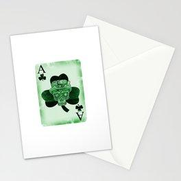 Skull Ace Card Irish luck St. Patricks Day Stationery Cards