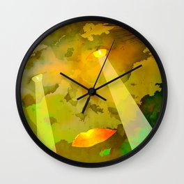 Moon Power / Portrait 24-09-16 Wall Clock