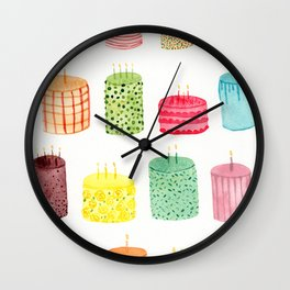 Birthday Cakes Wall Clock