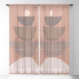 Abstraction_BALANCE_Bohemian_Minimalism_Art_001 Sheer Curtain