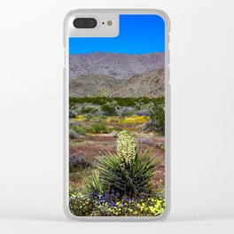 Painted Desert 7465 - Joshua Tree National Park Clear iPhone Case