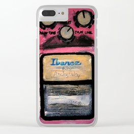 Ibanez AD-9 Analog Delay Guitar Pedal Acrylic Painting Clear iPhone Case
