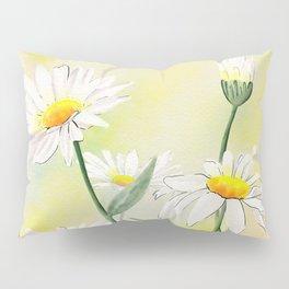 White Daisies Season Pillow Sham