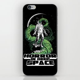 Horror In Deep Space iPhone Skin