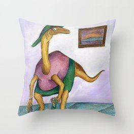 Dressy Dinosaur - Shirley Throw Pillow
