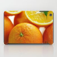 dentist iPad Cases featuring Fresh Orange for the Kitchen by Tanja Riedel