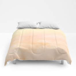 bed in the clouds: sunrise Comforters