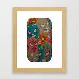 love lucha Framed Art Print