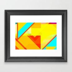 bipolar yellow Framed Art Print